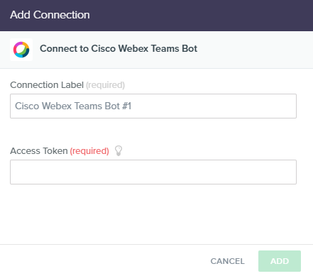 Cisco Webex Teams Bot - Built io Flow Docs